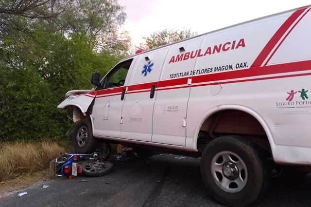 En plena visita de AMLO muere repartidor atropellado en Zinacatepec