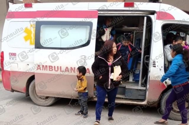 Usan ambulancia de Olintla para actos proselitistas