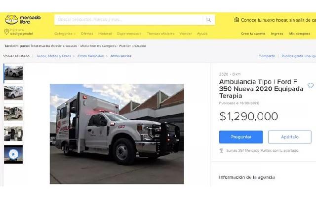 Aclaran venta de una ambulancia de Tehuacán en mercado libre
