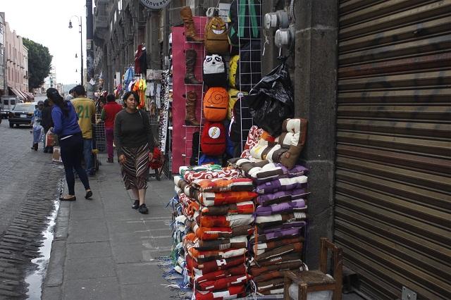 Por ambulantes en el Centro Histórico cierran 350 negocios