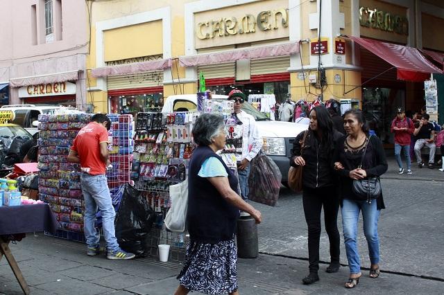 Confía comercio en retiro de ambulantes del centro histórico