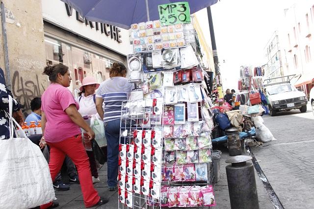 Con padrón, esperan retiro de informales del Centro Histórico