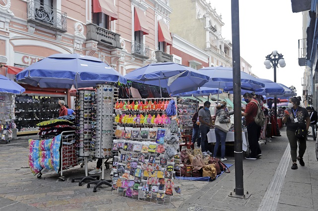 Reitera IP exhorto para regular el ambulantaje en Centro de Puebla