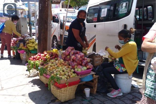 Desalojo de ambulantes en Tehuacán por Covid-19
