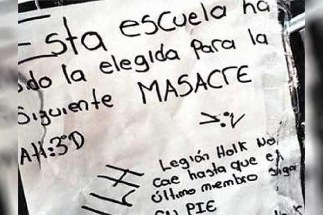 Legión Holk anuncia una masacre en telesecundaria de Iztapalapa