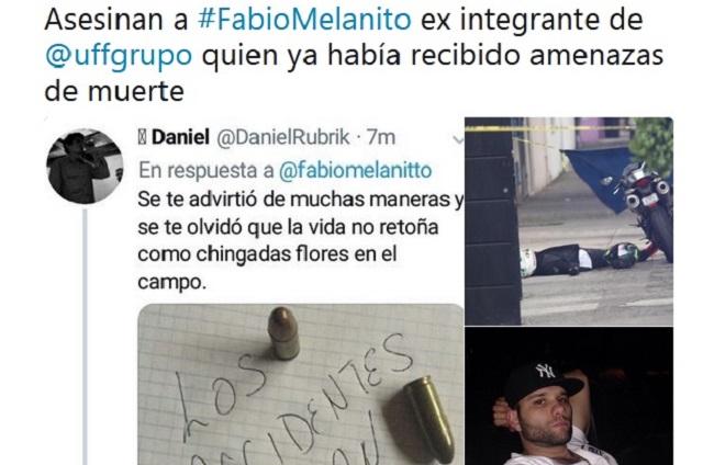 Publican presunta amenaza de muerte a Fabio Melanitto