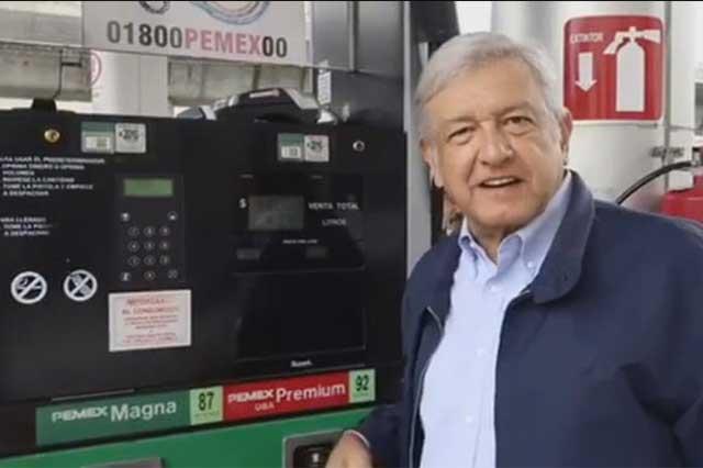 AMLO exige que dejen de decir cuentos sobre el precio de la gasolina