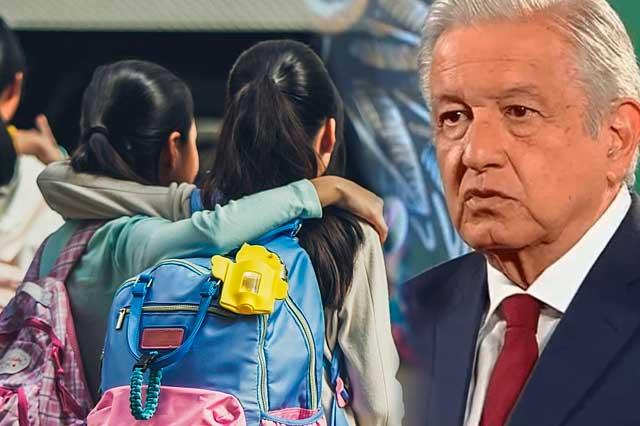 AMLO presentará estudio sobre daño a menores por no asistir a escuelas