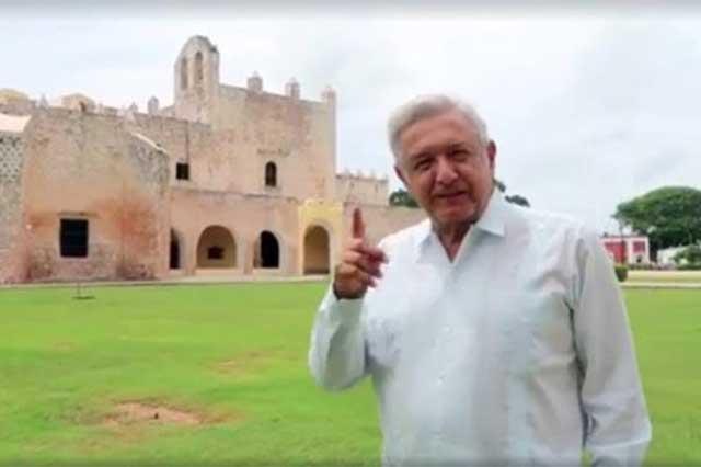 AMLO exige que Fox, Salinas y Calderón presenten su declaración 3 de 3