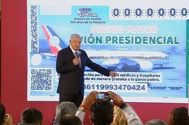 AMLO rifará el avión presidencial el Día de la Batalla de Puebla
