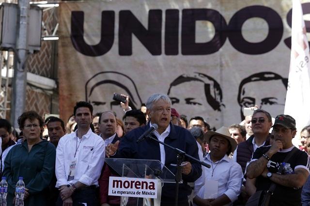 AMLO advierte que si hay fraude en Puebla impugnarán en tribunales