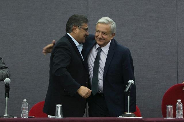 Alfonso Cepeda, líder del SNTE, también se reúne con AMLO