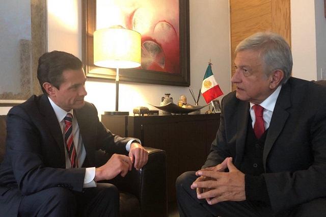 AMLO descarta presentar denuncia en contra de Peña Nieto