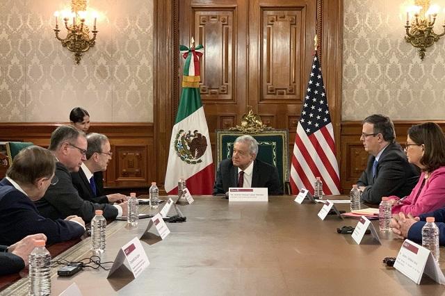 AMLO se reúne con legisladores de EU y hablan sobre Venezuela y migración