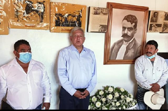 Visita AMLO Ayoxuxtla, donde se firmó el Plan de Ayala