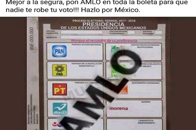 Buscan confundir al electorado promoviendo voto erróneo por AMLO
