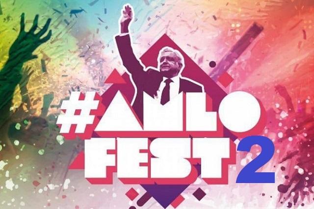 Este es el cartel del AMLOFest 2 del 1 de diciembre