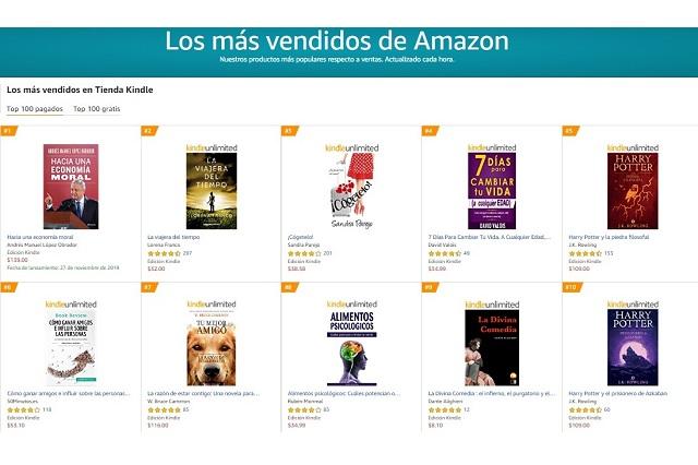 Libro de AMLO supera en ventas hasta a los clásicos en Amazon