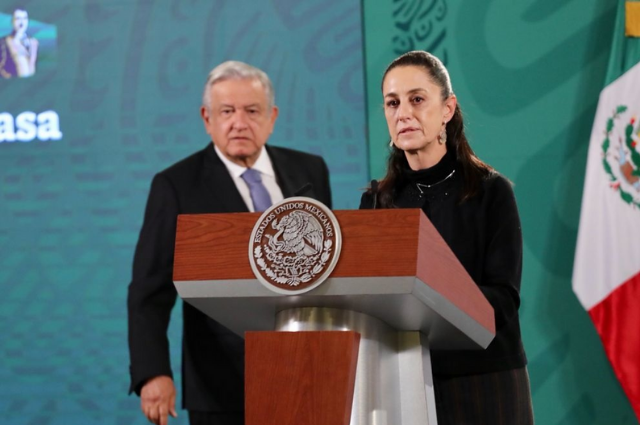 AMLO y Sheinbaum condenan protestas de gaseros en CDMX