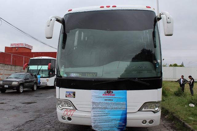 Amotac Puebla hace caravana a la CDMX sin bloquear carreteras