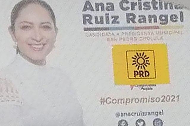Ana Cristina Ruiz acusa guerra sucia del PRD en San Pedro Cholula