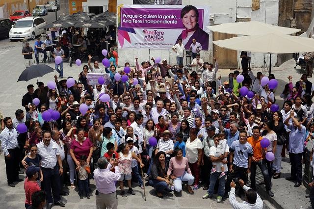 Con 319 mil pesos y un spot diario Aranda debe armar campaña