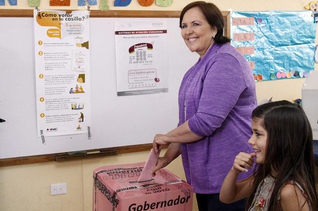 Amañada y sucia está siendo la elección, acusa Ana Teresa Aranda