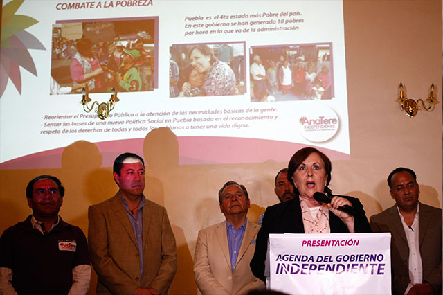 Presenta Aranda su plan de gobierno como independiente