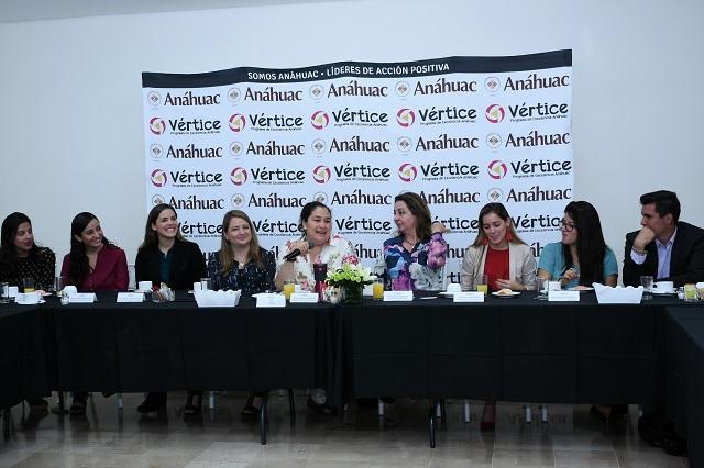Líderes Anáhuac se reúnen con presidenta de Grupo La Morena