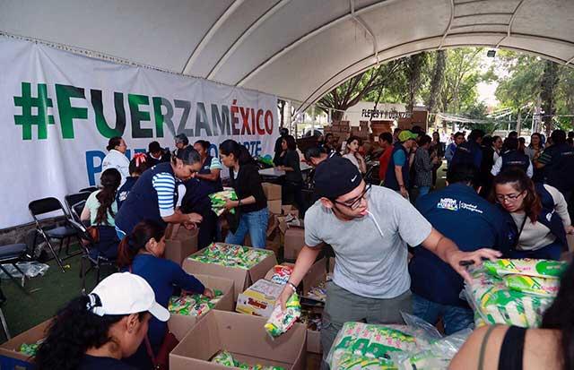 Trasladan centro de acopio del Zócalo al parque de Analco