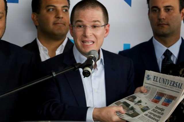 Escala pleito entre Ricardo Anaya y el diario El Universal