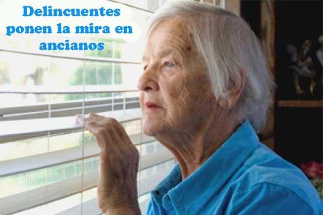 Los ancianos son más vulnerables a la delincuencia