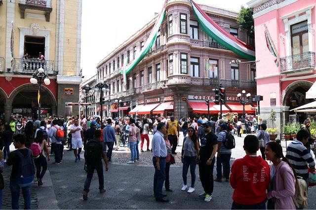 Reportan alza de 52% en afluencia de peatones en el Centro Histórico
