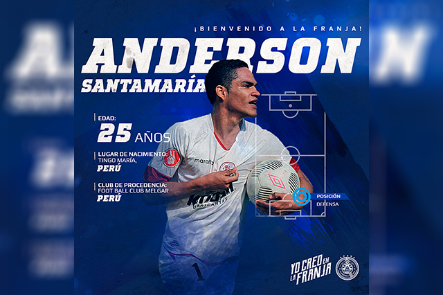Anderson Santamaría llega al Club Puebla