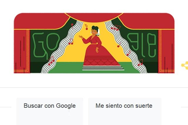 Con un Doodle, Google rinde tributo a Ángela Peralta, el ruiseñor mexicano