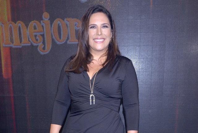 Angélica Vale feliz de lucir más delgada durante presentación de telenovela