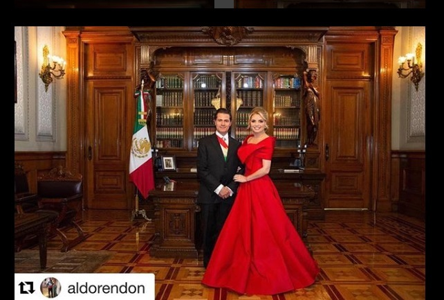 ¿Quién hizo vestido de Angélica Rivera para noche del grito?