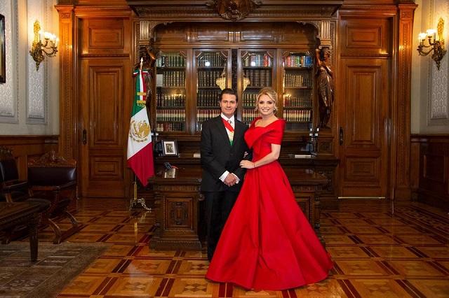 Los 6 vestidos que usó Angélica Rivera en 15 de septiembre