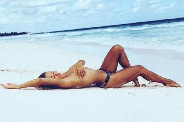 ¿Por qué Angelique Boyer subió foto en topless a Instagram?