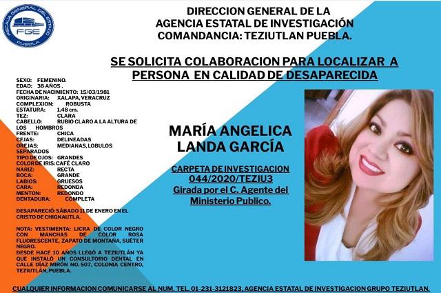 FGE pública ficha informativa para encontrar a Angy Landa