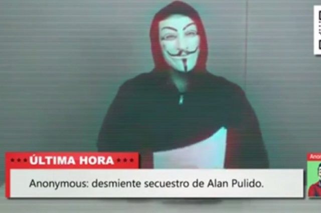 Secuestro de Alan Pulido fue una manipulación orquestada: Anonymous