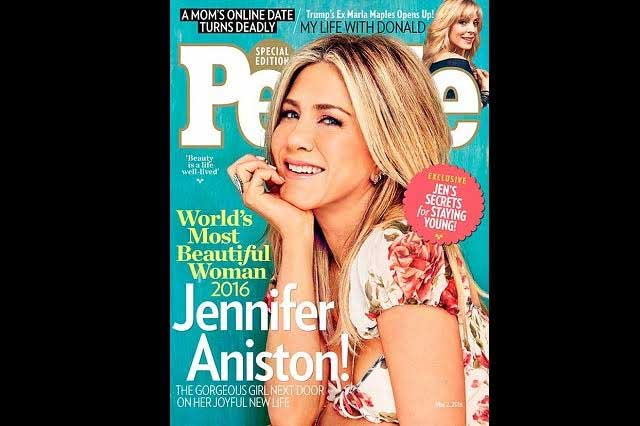 Jennifer Aniston es la mujer más bella del mundo: People