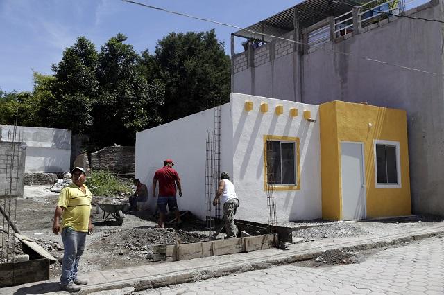 Más de mil mdp se destinaron para reconstruir casas en Puebla