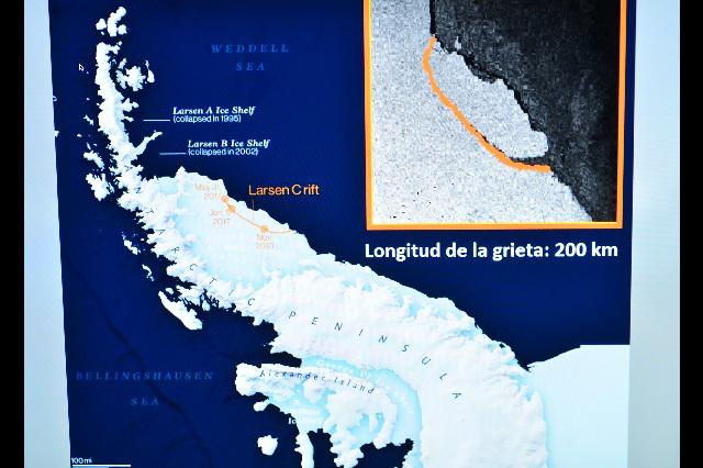Alertan sobre riesgos si se deshiela iceberg de la Antártida