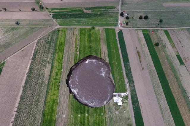 Google muestra cómo se veía zona de cultivo de Puebla antes del socavón