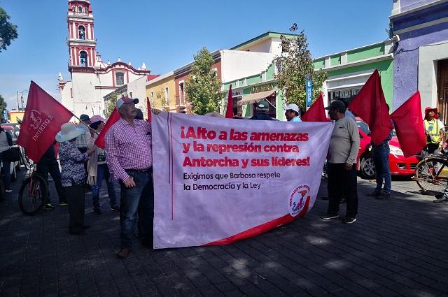 Pide Antorcha Campesina a Barbosa que pare la represión