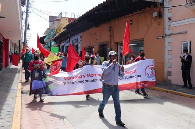 Movimiento Antorchista en Huauchinango acusa persecución política