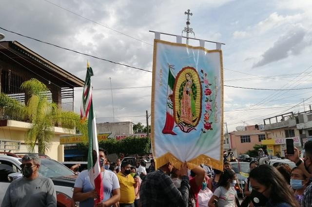Pese a Covid19 Antorcha Guadalupana llega a Estados Unidos