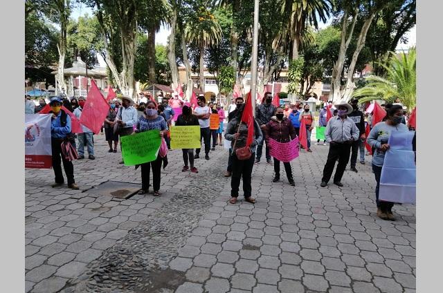 Insisten antorchistas en alianzas para sacar a MORENA de Huauchinango