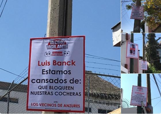 Lanzan vecinos de Anzures campaña contra inseguridad y antros